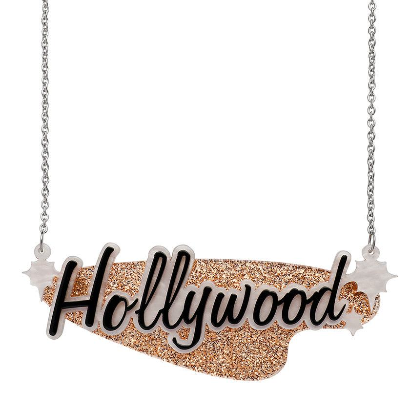 Tinsel Town Necklace (Erstwilder Resin Hollywood Hollywood Necklace) - Glitterally.co.uk