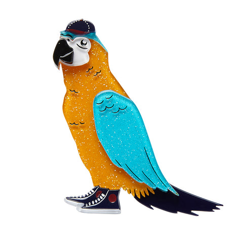 Corey the Macaw Brooch (Erstwilder Resin Macaw Brooch) - Glitterally.co.uk