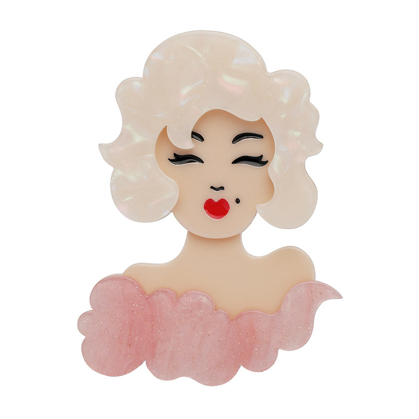 Hollywood Brooch (Erstwilder Resin Hollywood Blonde Brooch) - Glitterally.co.uk