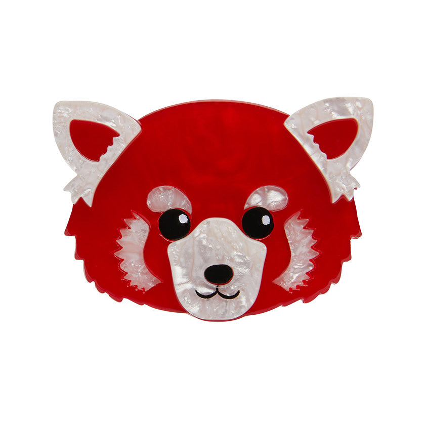 LESSER RUSTY RED PANDA BROOCH (Erstwilder Red Panda Resin Brooch) - Glitterally.co.uk