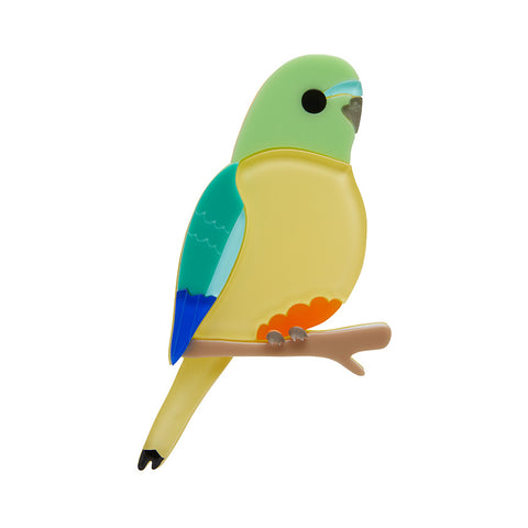 RADIANT RAMBLER PARROT BROOCH (Erstwilder Parrot Resin Brooch) - Glitterally.co.uk