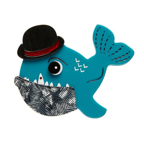 Pedro the Piranha Brooch (Erstwilder Resin Piranha Brooch) - Glitterally.co.uk