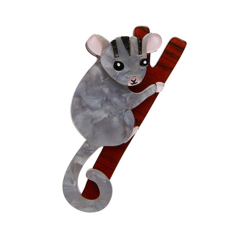 POSSUM AT PLAY BROOCH (Erstwilder Possum Resin Brooch) - Glitterally.co.uk