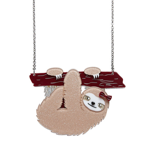 Sybil the Sloth Necklace (Erstwilder Resin Sloth Necklace) - Glitterally.co.uk