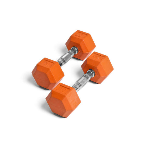 Element Fitness 10lbs Colored Rubber Hex Aerobic Dumbbells