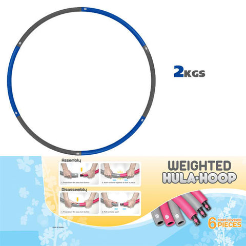 Jasmine Fitness Weighted 2kg Hula Hoop
