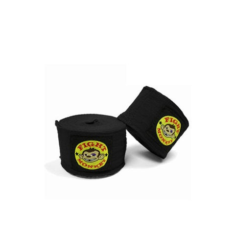 "Fight Monkey 180"" Hand Wraps - Black"