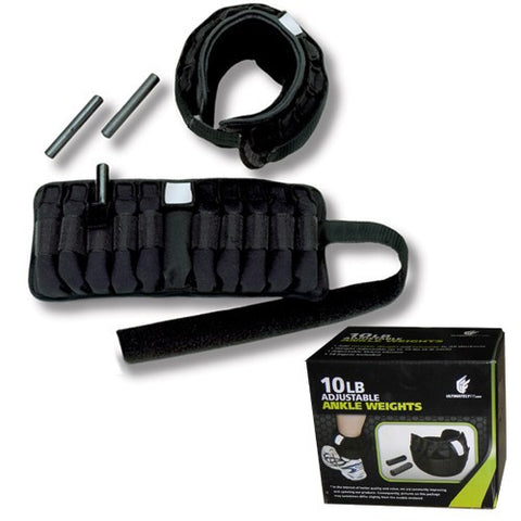 Adjustable Ankle Weights - 10lb Pair