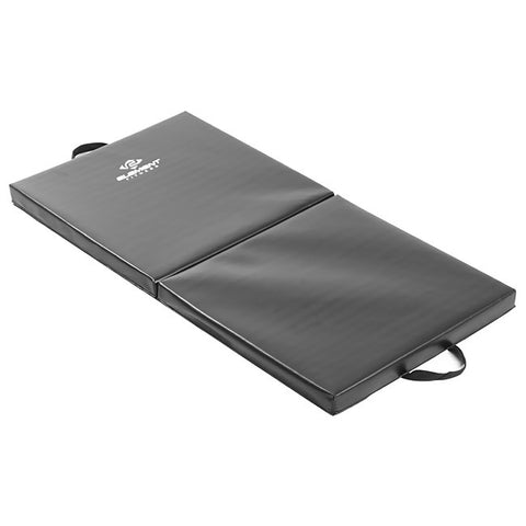 "Element Fitness 2' x 4' x 2"" Folding Black Exercise Mat"