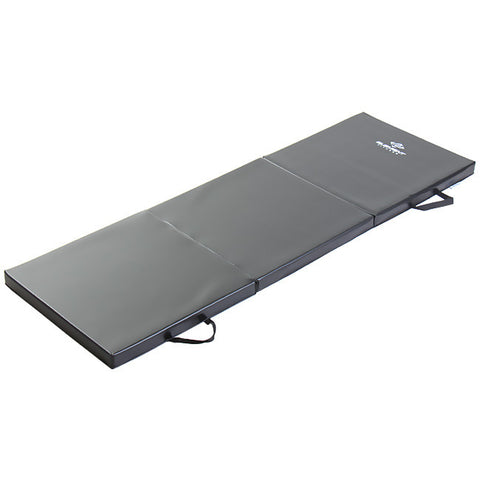 "Element Fitness 2' x 6' x 2"" Folding Black Exercise Mat"
