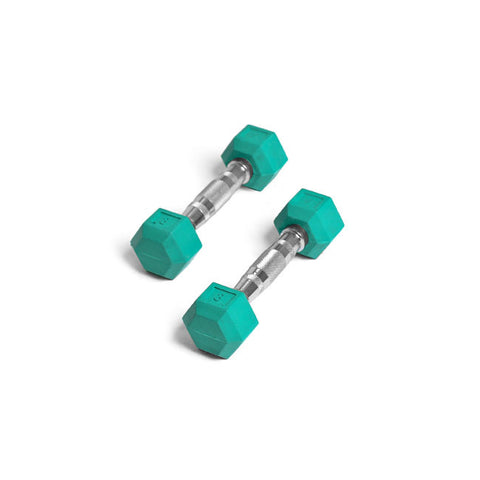 Element Fitness 3lbs Colored Rubber Hex Aerobic Dumbbells