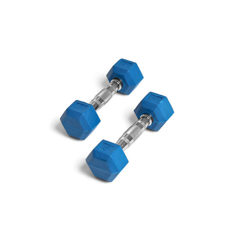 Element Fitness 5lbs Colored Rubber Hex Aerobic Dumbbells