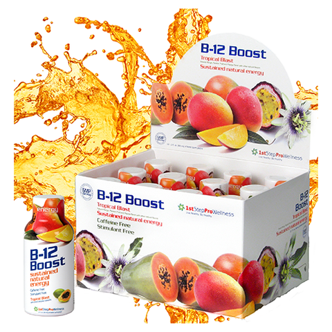 Liquid B12 Boost Tropical Blast- 2oz; 12 pack