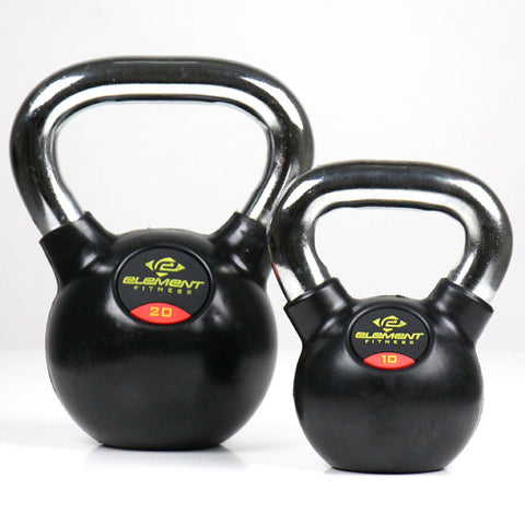 Element Fitness Commercial Chrome Handle Kettle Bells - 55 lbs