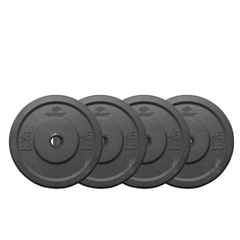 Element Fitness Commercial Bumper Plates Black