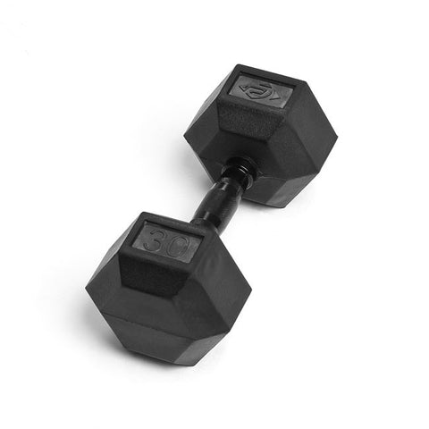 30lb Virgin Rubber Hex Dumbbell No Toxic Odor SDVR-30