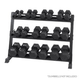 XTREME MONKEY COMMERCIAL 3-TIER HEX DUMBBELL RACK