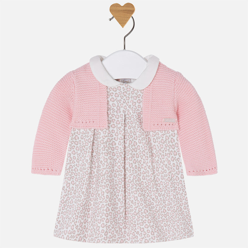 Mayoral - Baby Girl Cardigan Dress