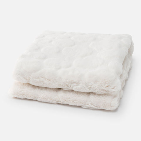 Mayoral - Faux Fur Baby Blanket in Off White