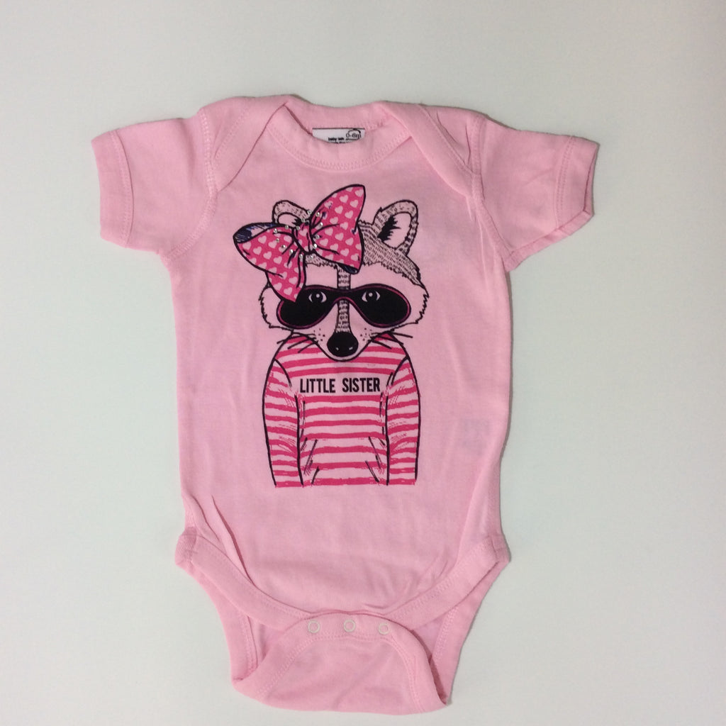 She's the One: Little Sister Raccoon Body Suits - Busy B Kids