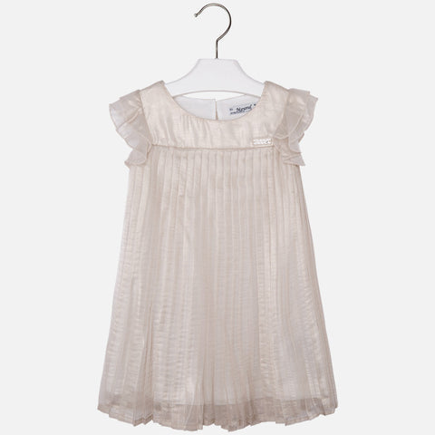 Mayoral: Girl's Metallic Pleated Dress