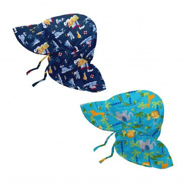 iPlay: Print Fun Flap Sun Hat - Assorted Boy Colors - Busy B Kids - 1