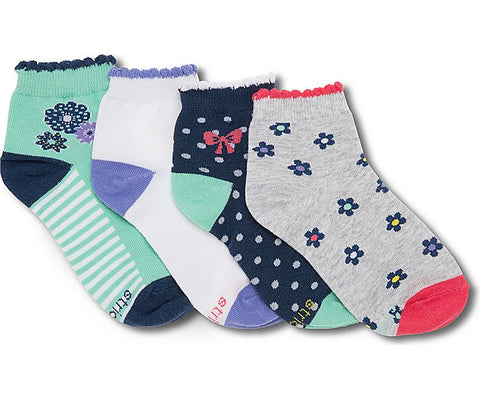 Stride Rite: Ankle Socks - Sweet Florals - Busy B Kids