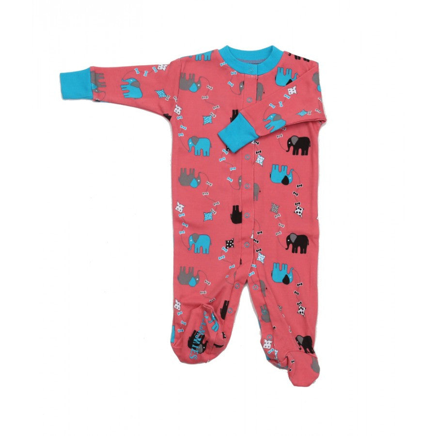 new jammies organic footie  elephant kites – busy b kids - new jammies organic footie  elephant kites  busy b kids