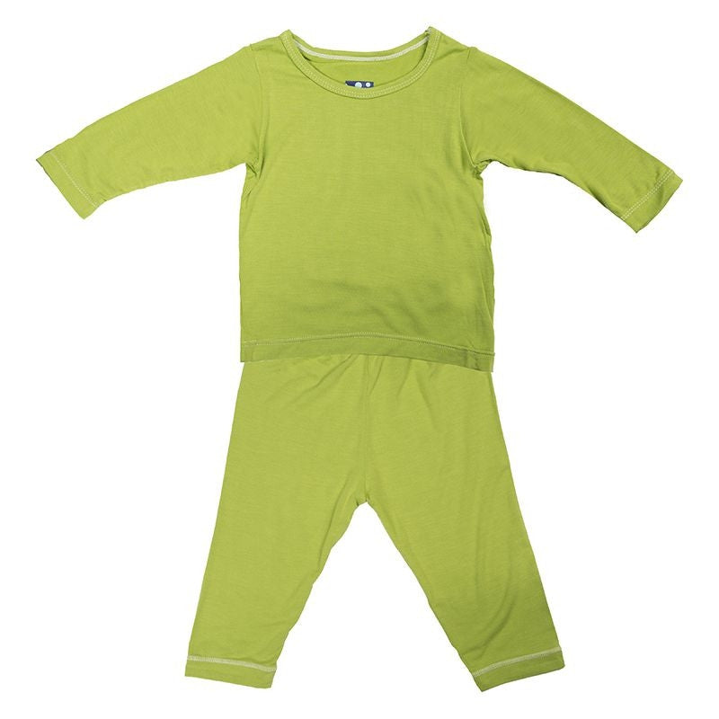 Kickee Pants: Basic Long Sleeve Pajama Set - Busy B Kids - 1