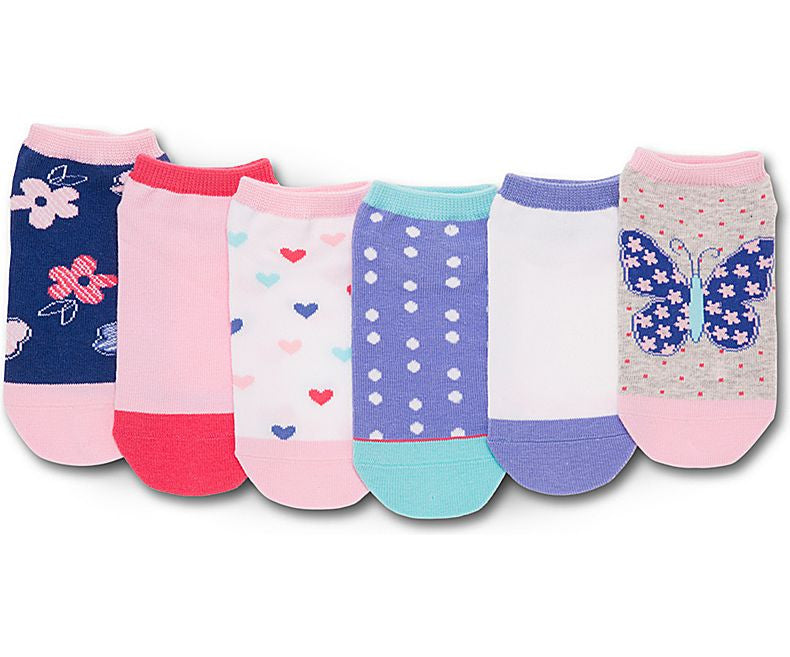 Stride Rite: No-Show Socks - Dainty Pink Butterfly - Busy B Kids