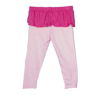 Kickee Pants: Skirted Legging-Lotus and Winter Rose - Busy B Kids