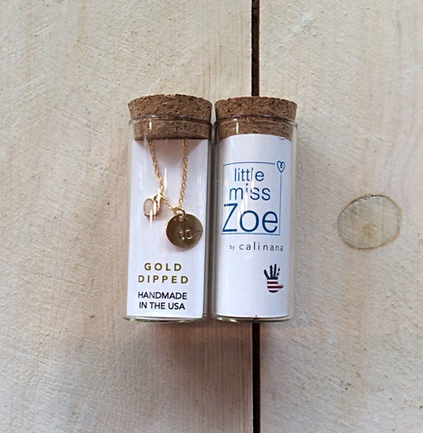Little Miss Zoe: Bottled Necklace - Number with Heart