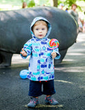 Magnificent Baby: Rain Jacket - Blue Hippo - Busy B Kids - 1
