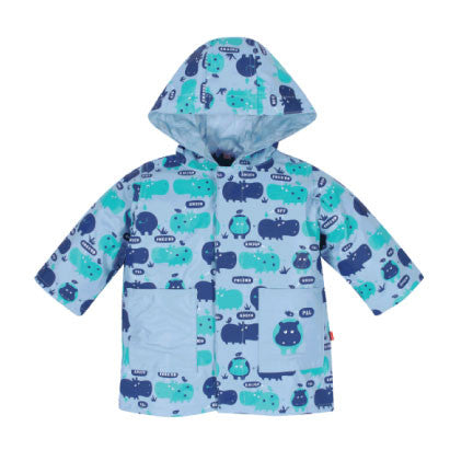Magnificent Baby: Rain Jacket - Blue Hippo - Busy B Kids - 2