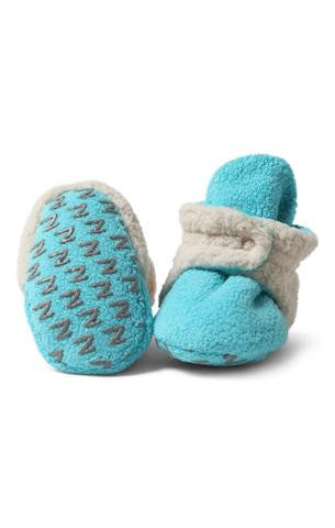 Zutano: Fuzzy Fleece Booties - Pool - Busy B Kids
