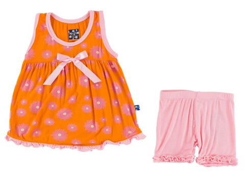 Kickee Pants: Swing Tank Set - Sunset Water Lily