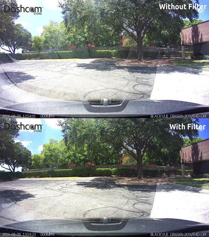 BlackVue DR430, DR450 and DR470 Front Camera Slip-On Polarizing Filter - Accessories - DashCam Bros - Dash Cam