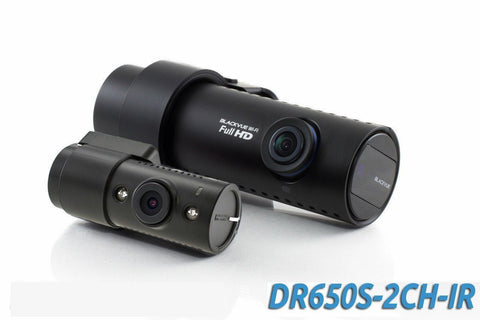 BlackVue DR650S-2CH-IR Full HD 1080p HD with Infrared Rear Camera, GPS & WiFi