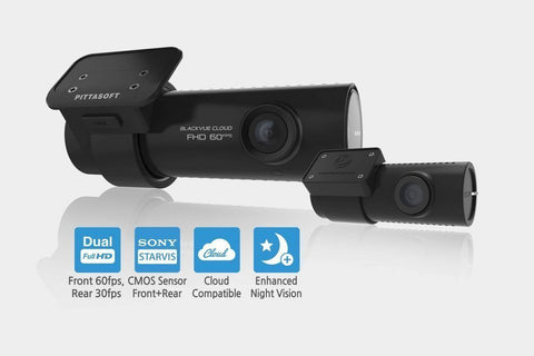 BlackVue DR750S-2CH Dual Lens Full HD 1080p HD Dash Cam with WiFi