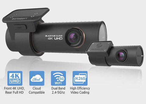 BlackVue DR900S-2CH Dual Lens 4K GPS WiFi Cloud-Capable Dashcam