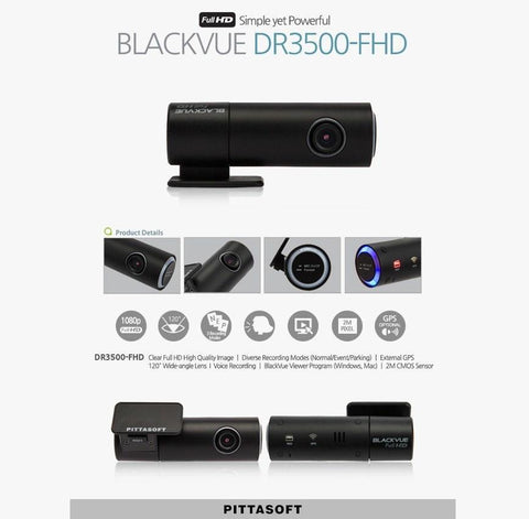 BlackVue DR3500-FHD Full HD 1080p - Dash Cam - DashCam Bros - Dash Cam