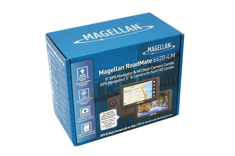 Magellan RoadMate 6620-LM Single Lens Dash Cam with GPS Navigation Combination - Dash Cam - DashCam Bros - Dash Cam