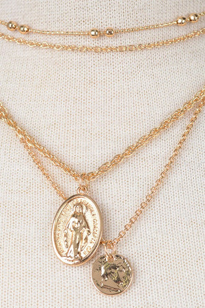 Miraculous Medal Layered Necklace