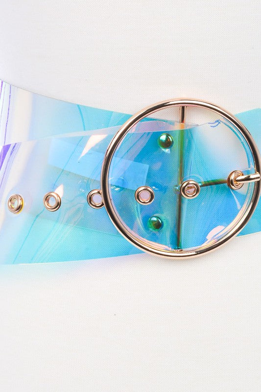 Clear Iridescent Belt