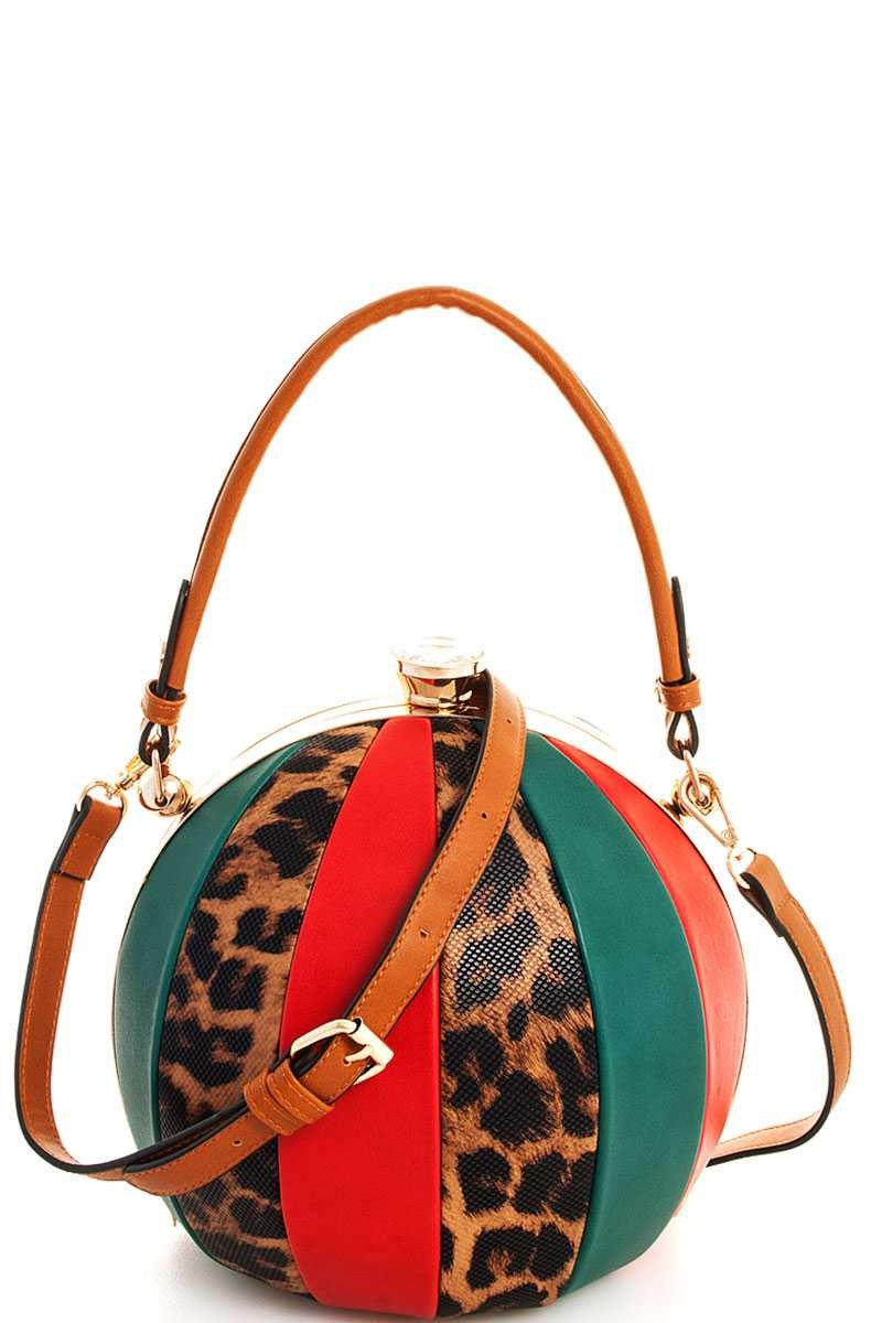 Leopard Disco Purse-1 LEFT!