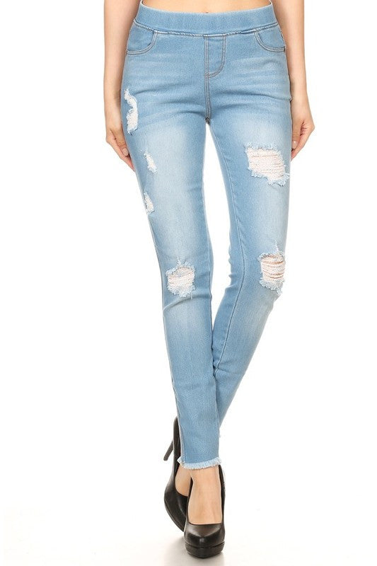 Light Distressed Denim