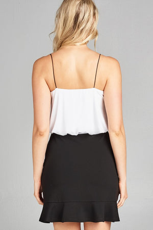 White Elastic Tank-1 LEFT!