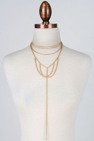 Gold Web Necklace-1 LEFT!