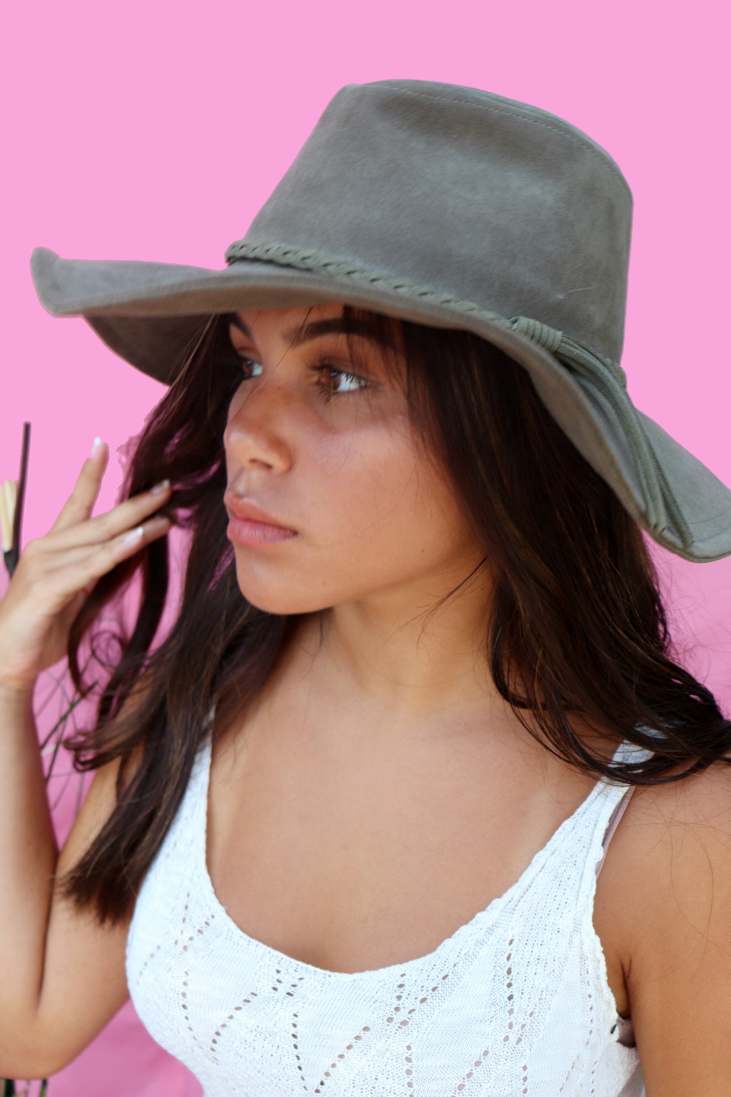 Olive Braided Hat