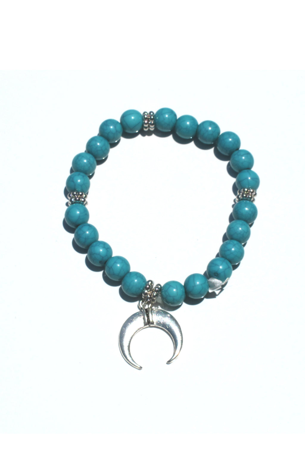 Turquoise Beaded Charm Bracelet-1 LEFT!
